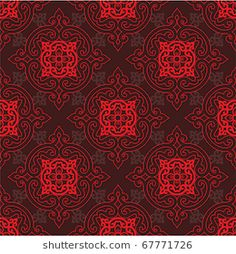 Vector Seamless Oriental Tile (background, wallpaper, pattern, texture)