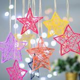 They look like fun and easy ornaments. Christmas Star Decorations, Christmas Crafts For Kids, Xmas Crafts, Diy Christmas Ornaments, Paper Decorations, Christmas Printables, Homemade Christmas, Christmas Art, Christmas Projects