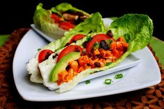 Buffalo Chicken BLAT Wraps are low on carbs, but big on taste!