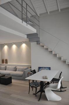 casa ELE: Soggiorno in stile in stile Moderno di PAOLO CAPRIGLIONE ARCHITETTO