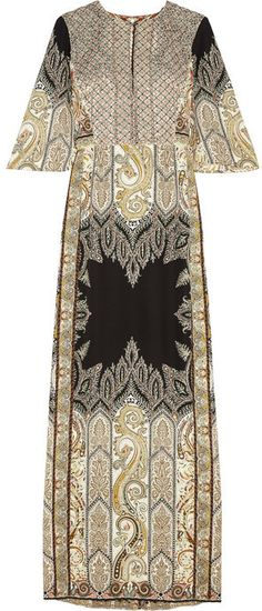 Etro Embellished printed silk-crepe gown on shopstyle.com