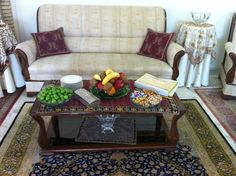 Persian table laden with fruit goodies assorted edibles to receive a guest (mehmooni) | The Discreet Charm of Persian Roses, Persian Carpets & Persian Hosts | A Visit to Kermanshah, Iran (Part 2) | My Epic Trip to Iran 2014 @figandQuince