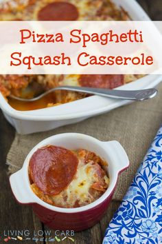 Pizza-Spaghetti-Squash-Casserole. I don't think you need 2 processed pork products-1 is enough, but a good alternative to the epic cauliflower crust saga.