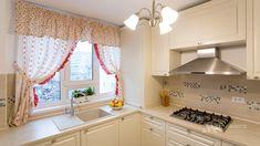 Kitchen Interior, Kitchen Design, Valance Curtains, Kitchen Remodel, Kitchens, Home Decor, Houses, Decoration Home, Design Of Kitchen