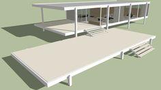 Featured Model of Farnsworth House - Farnsworth House Plan, Casa Farnsworth, Passive House Design, 3d Warehouse, Architecture Plan, Modern Buildings, Building Design, Bauhaus, 3 D