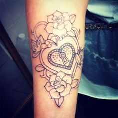 locked heart tattoo