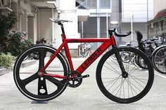 RED//RED//RED// LEADER BIKES 735TR CUSTOM BIKE.   LEADER BIKE総代理店 【BROTURES OSAKA】大阪のピストバイクショップ