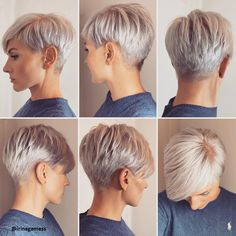 Platinum Blonde Short Hair New Hairstyles - Hairstyles Style Haa Platin Blondes kurzes Haar Neue Frisuren – Frisuren Stil Haar Platinum blonde short hair – hairstyles style hair - Super Short Hair, Short Grey Hair, Short Hair Styles, Medium Hair Styles, Long Hair, Short Pixie Haircuts, Short Hairstyles For Women, Cut Hairstyles, Blonde Pixie Hairstyles