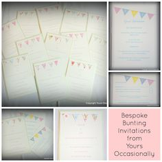 Good Afternoon YOs, well what a busy week already.  All the invitations I'm making are for next summer, so lots of lovely colours to work with on this dull day.    I've just finished these cute little bunting invitations, which I do love, lots of pastel colours with a tiny bit of pearlescent to lift it and the cutest little bunting.    #wedding #weddingstationery #weddinginvitations #bride #groom #engaged #bridetobe #groomtobe