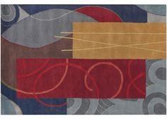 """Graphic area rugs Alloy, 7'9"""" x 10'6"""""""