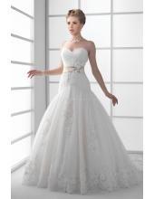 Romantische Traumhafte Süße Hochzeitskleider aus Softnetz mit Blumen