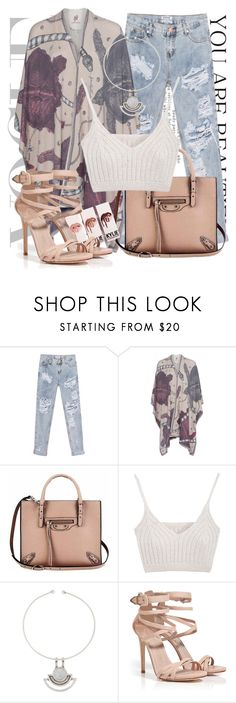 """""""Untitled #1295"""" by noviii ❤ liked on Polyvore featuring One Teaspoon, Friendly Hunting, Balenciaga, Pamela Love and Le Silla"""