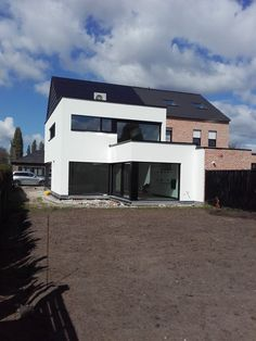 HOB modern te Stabroek (M) - Bouwatelier bvba Minimalist House Design, Minimalist Home, Building Design, Building A House, Facade House, Little Houses, Outdoor Rooms, Loft, Interior Architecture