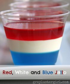 red white and blue jello for 4th of July