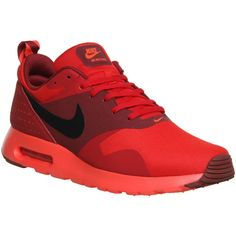 Nike Air Max Tavaz ($91) ❤ liked on Polyvore featuring mens, men's shoes, men's sneakers, shoes, his trainers, red red and trainers