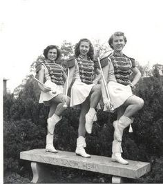 I found these great vintage majorette photographs here.