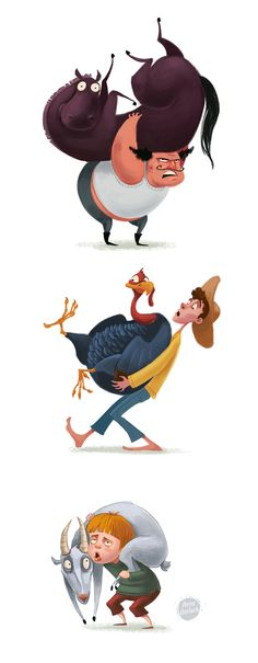 Characters 2013 by Anna Gorlach, via Behance