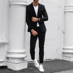 Formal men outfit, formal dresses for men, men casual, gentleman style, gen Mens Casual Suits, Smart Casual Men, Business Casual Men, Mens Fashion Suits, Formal Dresses For Men, Formal Men Outfit, Blazer Outfits Men, Mode Costume, Look Man