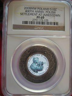 Poland NGC PF69 400th Anniv. of Polish Settlement Jamestown North America Silver http://www.ebay.com/itm/-/251605239205 #SILVER #GOLD #NGC #PCGS #BULLION #COINS #PALLADIUM #PLATINUM #ANACS #ICG  #SilverCoins #Gold #etsy #poland #polish