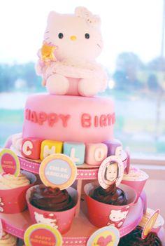 Hello Kitty cake #cake #hellokitty
