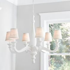 Distressed White Cottage Wood Orb Chandelier Pendant