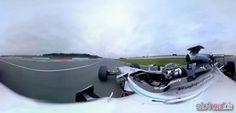 Formel 1 Mercedes 360 Grad Aussicht - 360 Grad Ansicht im Formel 1 Auto Rennbahn