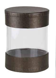 Rigid Set-up Box, Pretzel Cylinder, Deco Bronze, Small, QTY/CASE-24
