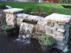 Pool fountains and waterfalls look of a waterfall to - Swimming pool water fountain kits ...