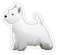 Westhighland White Terrier - Westie - Basic Breed Silhouette by TriPodDogDesign