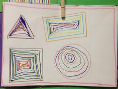 LA CLASE DE MIREN: mis experiencias en el aula: TALLER DE GRAFISMO: FIGURAS GEOMÉTRICAS CONCENTRICAS