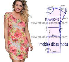 Vestido casual florido simples - Best Sewing Tips Dress Sewing Patterns, Sewing Patterns Free, Clothing Patterns, Free Pattern, Baby Patterns, Sewing Clothes Women, Clothes For Women, Diy Clothes, Robe Diy