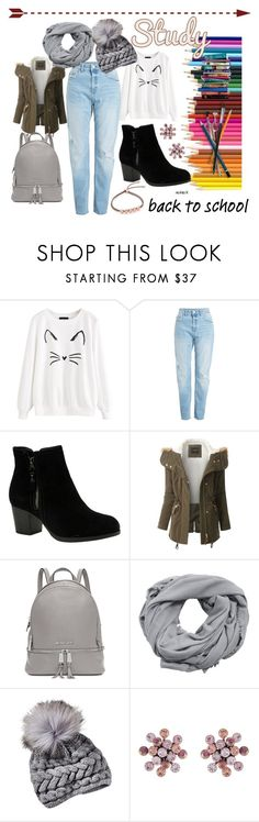 """""""School style"""" by ivanafeltrin ❤ liked on Polyvore featuring Skechers, LE3NO, Michael Kors, MANGO, Konplott, Monica Vinader and 7 For All Mankind"""