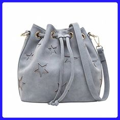 small bucket bags With Star crossbody bags for women handbags Lady s  Shoulder Bag gray - Shoulder e8277bfb44eb7