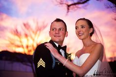 Colorado sunset with bride and groom by Uriah Werner Photography