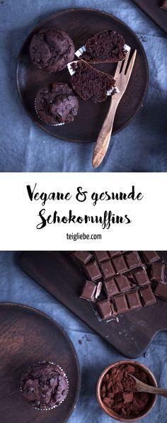 Vegane und gesunde Schokomuffins