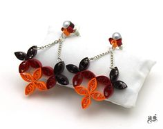 Stud dangling earring Paper Quilling Earrings Statement