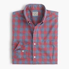 Slim Secret Wash shirt in heather gingham
