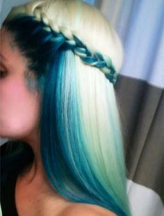 Romantic side braid hairstyles plus blue color effect ,side braids crown, Fascinating Ways to Braid Your Long Hair