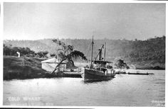 River ferry ERRINGHI (1907-1951) at Colo, on the Hawkesbury River