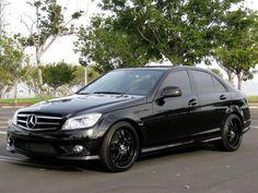 Black Wheeled Mercedes Benz w204 Custom Mercedes, Mercedes C250, Black Mercedes Benz, Mercedes Benz C300, Benz Car, C 63 Amg, Suv Cars, Fancy Cars, Black Wheels