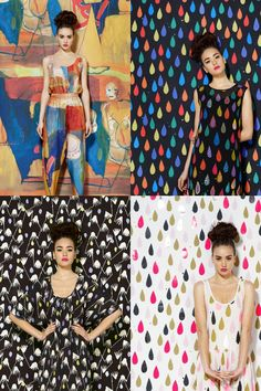 Clothing with matching backgrounds