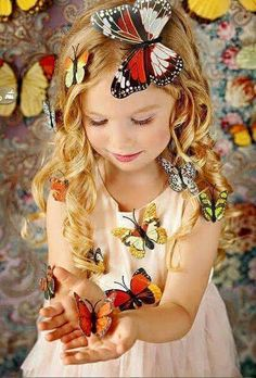 Butterfly Party, Butterfly Kisses, Color Photography, White Photography, Simply Beautiful, Beautiful Images, Cool Haircuts For Girls, Color Splash Photo, Photoshoot Themes
