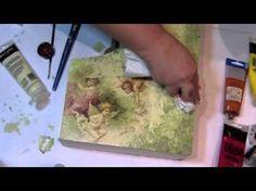 Técnica de integración del Decoupage con pintura