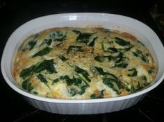 baked spinach, Italian cheeses and eggs one of my favorites to make for breakfast