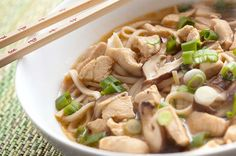 Recipe for Chicken Udon Noodle Soup at Life's Ambrosia