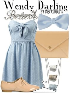 ThanksDisneyBound Wendy. I love this. Especially the necklaces of kisses! awesome pin