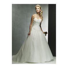 Princess Appliqued Sweetheart Corset Dropped Waist  Satin Organza Wedding Dress
