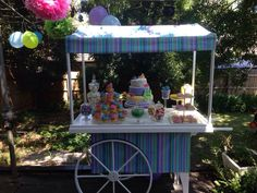 Candy cart to complete any birthday party.