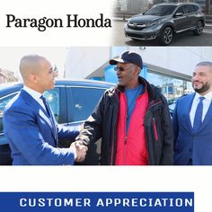 From Paragon Honda · Henry Came In Today Referring A Family Member To Buy A  Car But, Ended Up