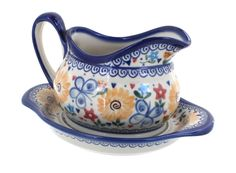 Polish Pottery Butterfly Gravy Boat and Plate > Don't get left behind, see this great product offer  : Bakeware
